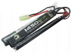 WE Airsoft 11.1V Lipo 1450mAH 25c 3 Way Nun-Chuck Battery Pack Small Tamiya